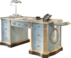"""Venetian"" shaped desk"